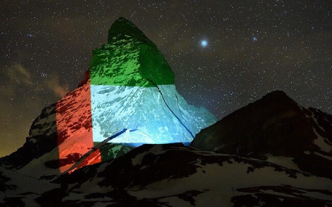 LOOK: Switzerland's iconic mountain showcases UAE flag as symbol of hope