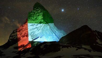 Photo of LOOK: Switzerland's iconic mountain showcases UAE flag as symbol of hope