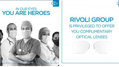 Photo of Rivoli EyeZone to give out free optical lenses for healthcare staff