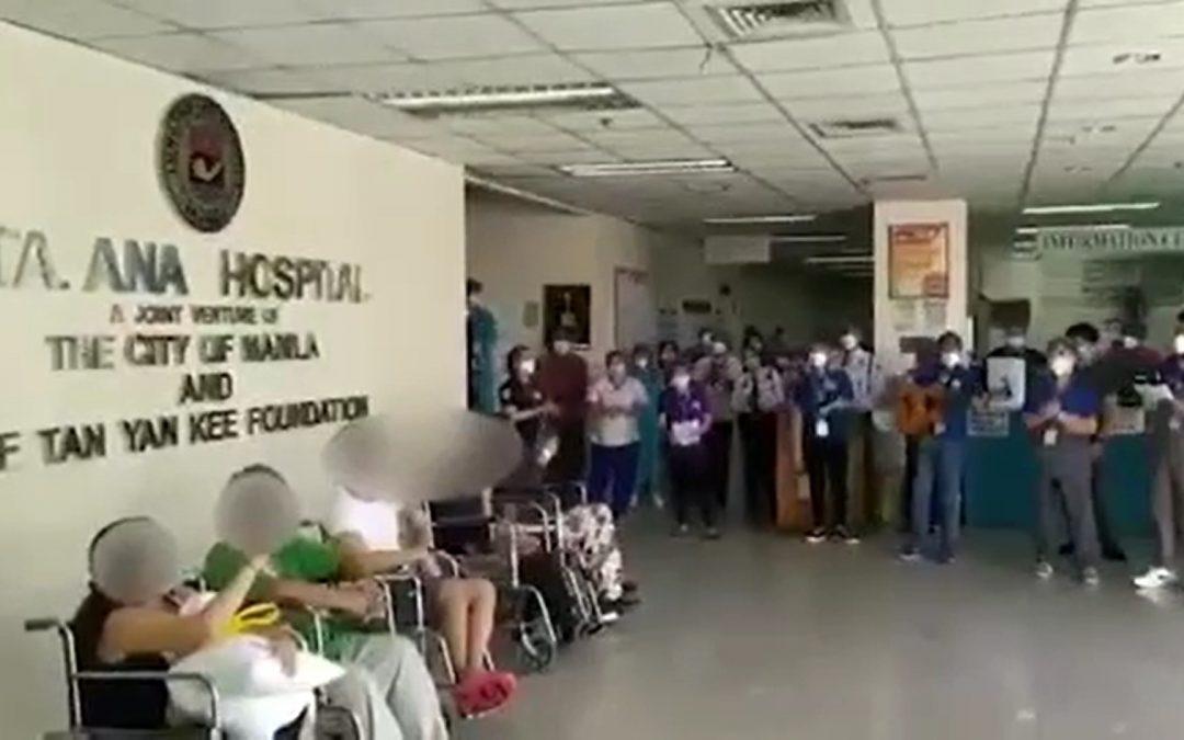 'Umagang Kay Ganda': Manila hospital employees serenade COVID-19 survivors