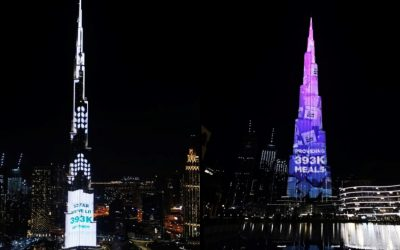 WATCH: Burj Khalifa dazzles with 393,000 lights in four days of donations