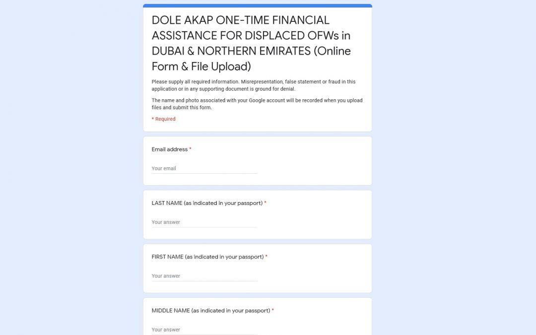 POLO Dubai reopens online application for DOLE-AKAP financial aid