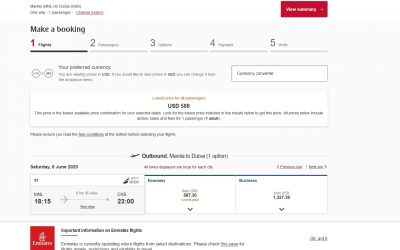 Emirates flight from Manila to Dubai to cost Dh 2159