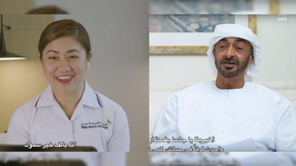 Filipina nurse says Sheikh Mohamed's appreciation for her job 'provides hope'