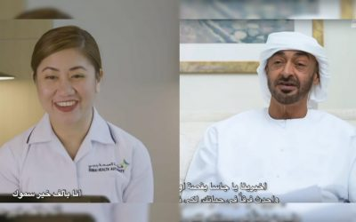 WATCH: Dubai-based Filipina nurse converses with Sheikh Mohamed bin Zayed about experiences as a UAE frontliner