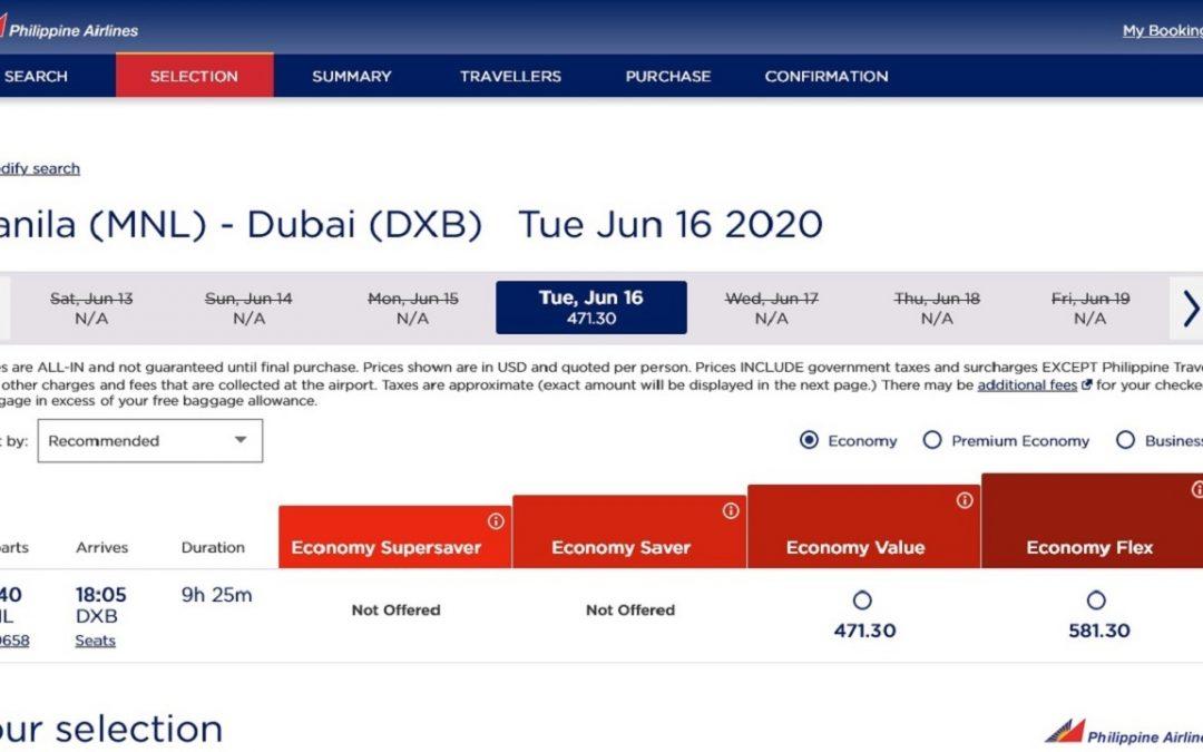 PAL to resume flights from Manila-Dubai starting June 16