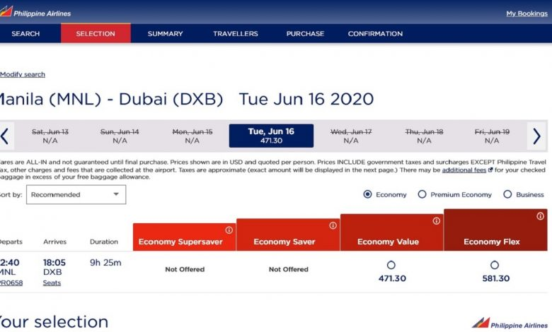 Photo of PAL to resume flights from Manila-Dubai starting June 16