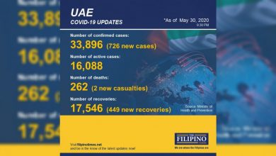 Photo of 449 new recoveries in UAE, total now at 17,546