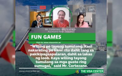 The Visa Center online game winner vows to assist Filipinos who wishes to migrate to New Zealand