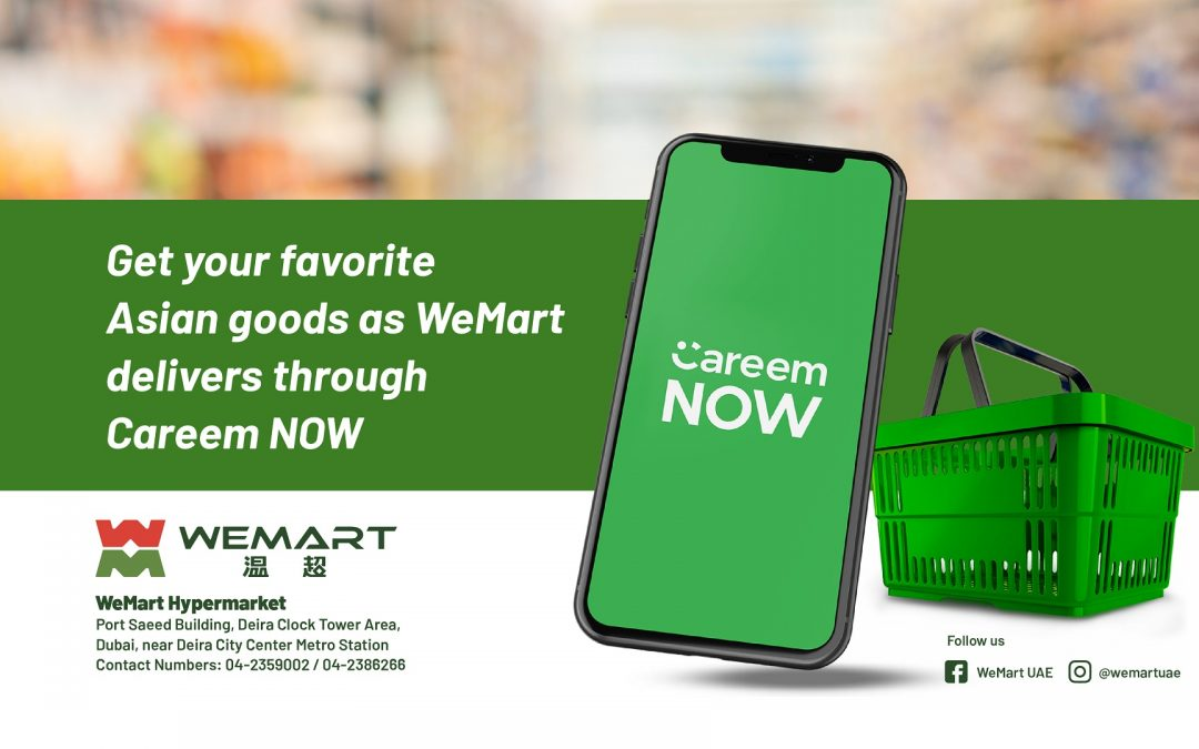 Shop affordable groceries, Asian delicacies from home at WeMart's app integration with Careem NOW
