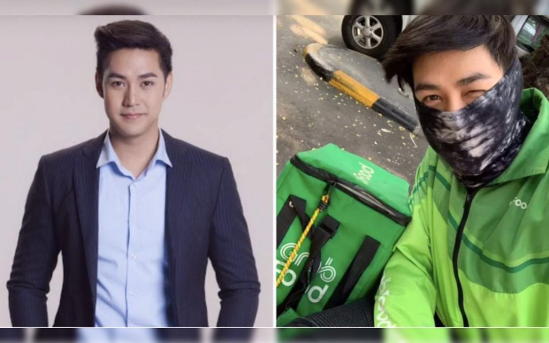 Thai celebrity now works as delivery boy amid COVID-19 as entertainment industry comes to halt