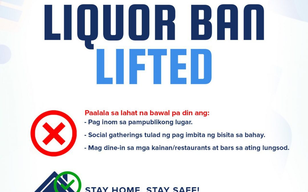 Pasig lifts liquor ban; still prohibits public drinking, mass gathering