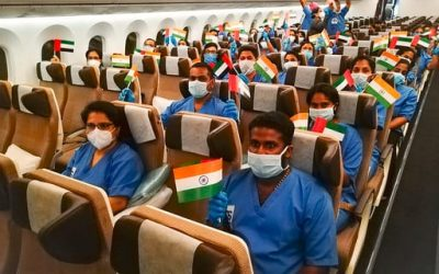 Over 100 medical workers from India arrive in UAE to help in COVID-19 fight