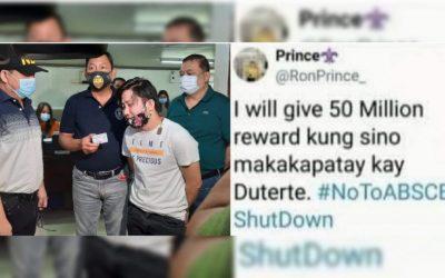 Warrantless arrest of teacher over anti-Duterte post invalid had he not admitted it – DOJ