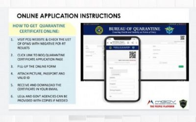 OFWs in PH can now get quarantine certificates online