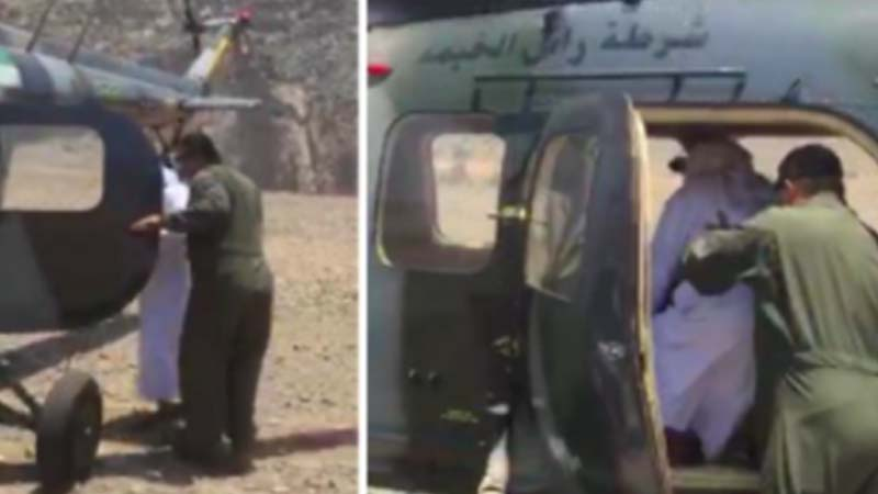 RAK Police rescues old man on top of mountain