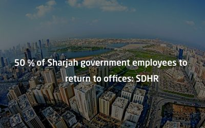 Return to work: Sharjah to allow 50% of gov't employees to return to offices