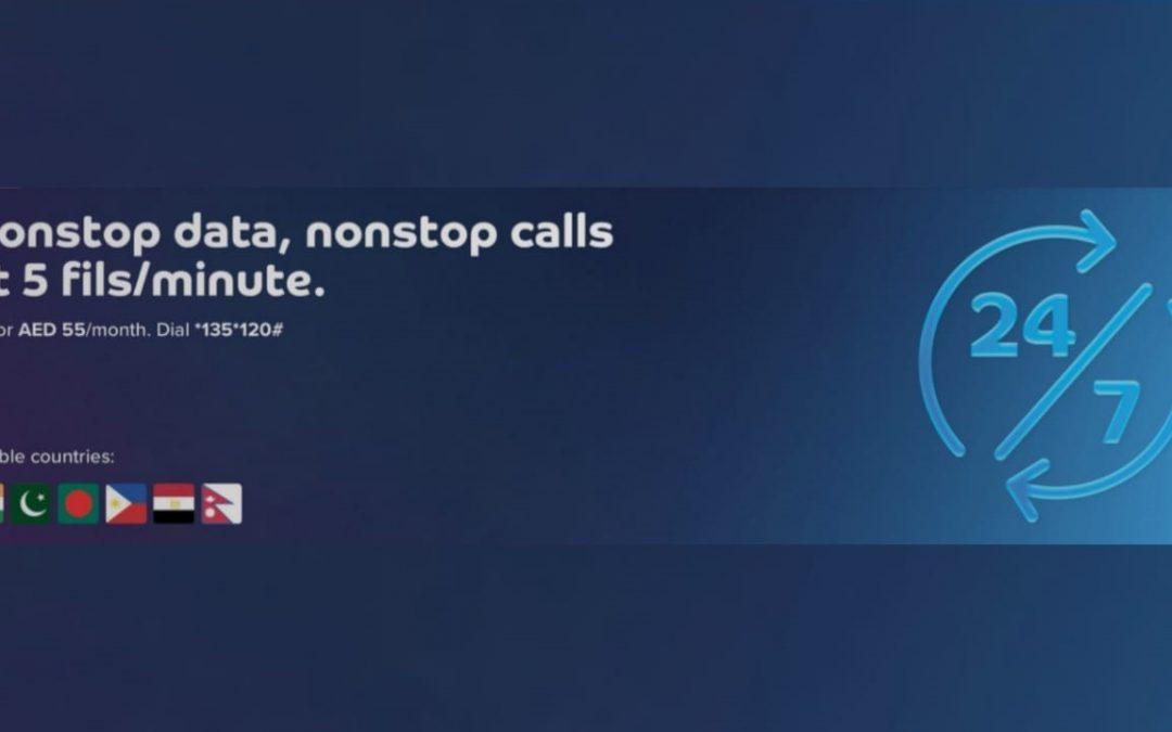 Enjoy nonstop data, nonstop calls from du