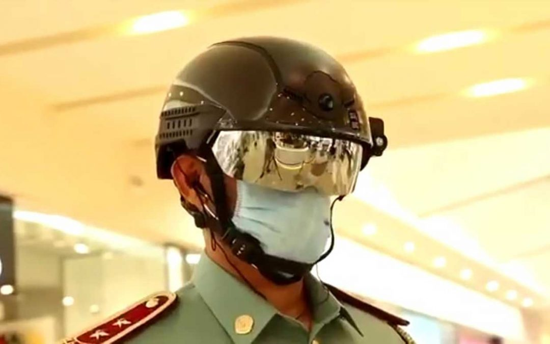 Fujairah Police now use smart helmets for COVID-19 screening