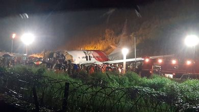 Photo of Videos show serious damage of Air India Express aircraft en route from Dubai to Kerala