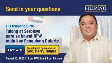 Photo of Presidential Spokesperson Harry Roque to address OFWs' COVID-19 related concerns during TFT's webinar