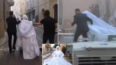 Photo of WATCH: Beirut explosion interrupts bride's wedding day