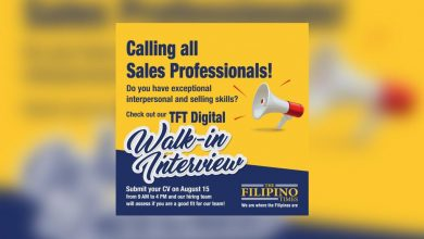Photo of OPLAN HANAP TRABAHO SA UAE: Here's your chance to get hired in The Filipino Times' Digital Walk-in Interview!