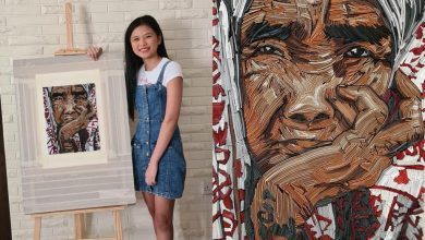 Photo of UAE-based Filipino teen stuns with her paper quilling portrait of Apo Whang-Od
