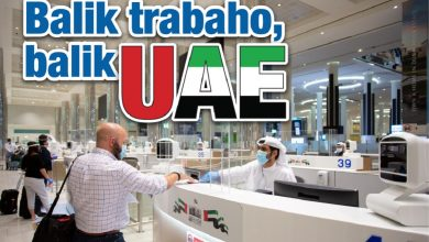 Photo of Balik trabaho, balik UAE
