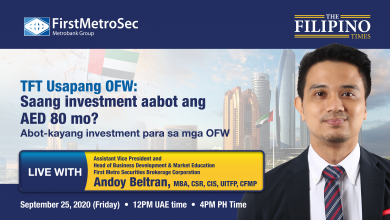 Photo of Free webinar this September 25 to give advice on investments starting from AED 80!