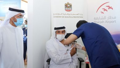 Photo of Sharjah Airport frontliners receive COVID-19 vaccine