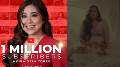 Photo of Moira dela Torre reaches 1 million subscriber milestone after releasing hit song 'Paubaya'
