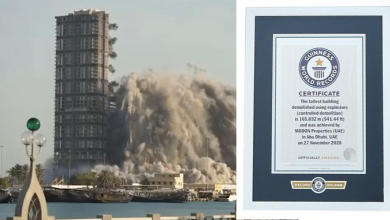 Photo of LOOK: Demolition of Mina Plaza bags Guinness World Records