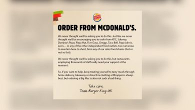 Photo of Burger King UK calls on people to order from McDonald's, other chains to support industry amid second lockdown