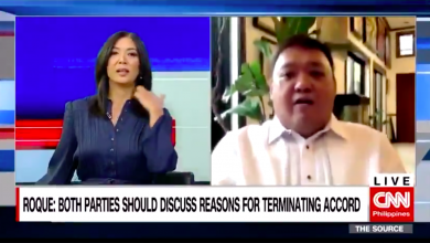 Photo of 'Where is your honor and excellence?' Roque loses cool on live TV over UP-DND issue