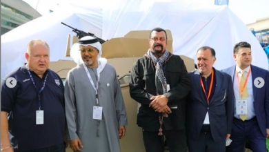 Photo of LOOK: US actor Steven Seagal graces launch of UAE's first fully electric tracked vehicle at IDEX