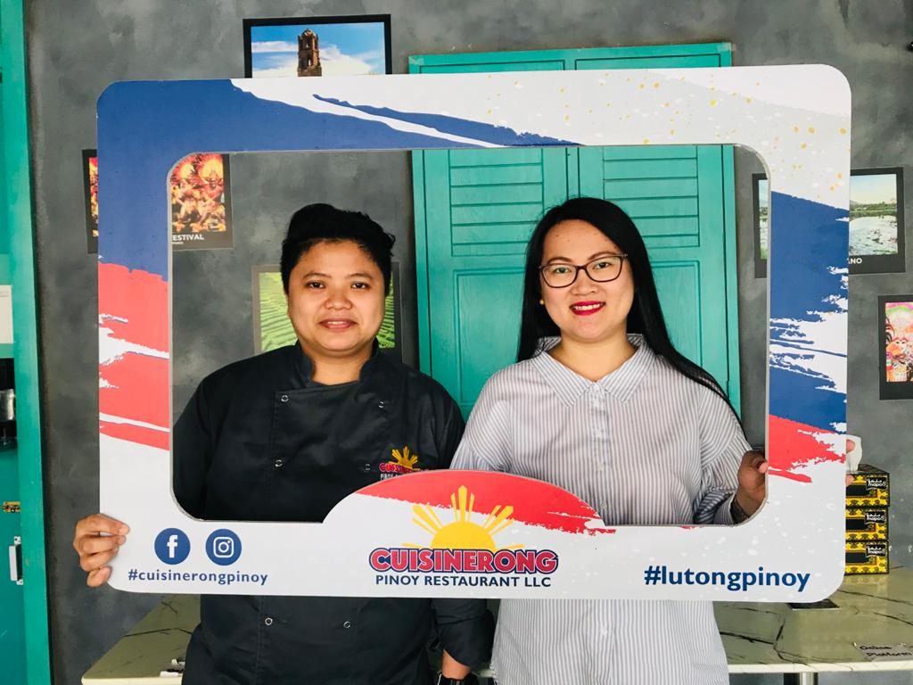 Renalyn Mendoza, Head Chef and Restaurant In Charge (left), Precy Coliat Dimaano - CO-Owner and Head of Operations (right)